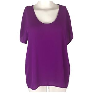 Lush Sz Small Purple Short Sleeve Top H11